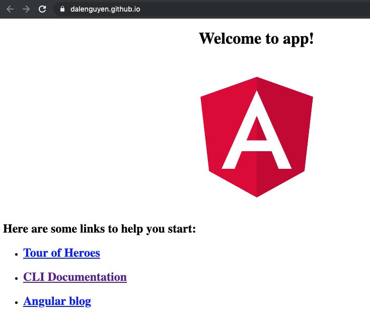 Angular github pages