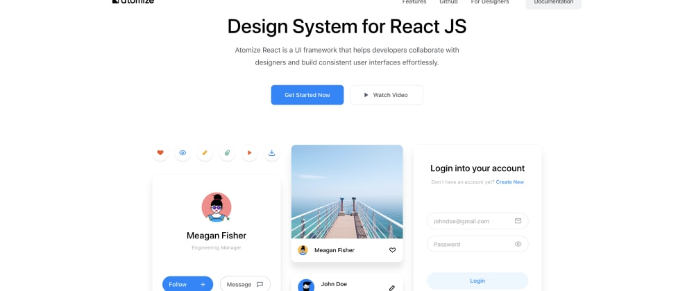 Cover image for Atomize : Simple Design System for React