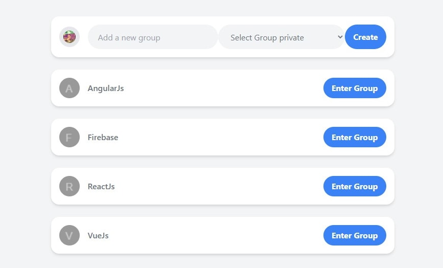 The Group Request Component