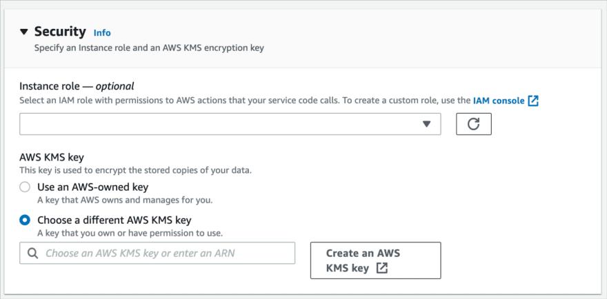 AWS App Runner with AWS KMS