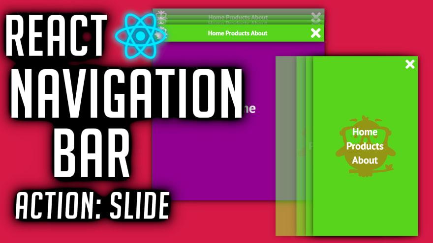React Navigation Bar Tutorial (Slide)