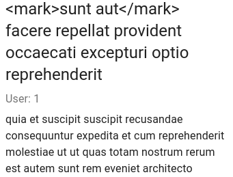 Text with the mark tags