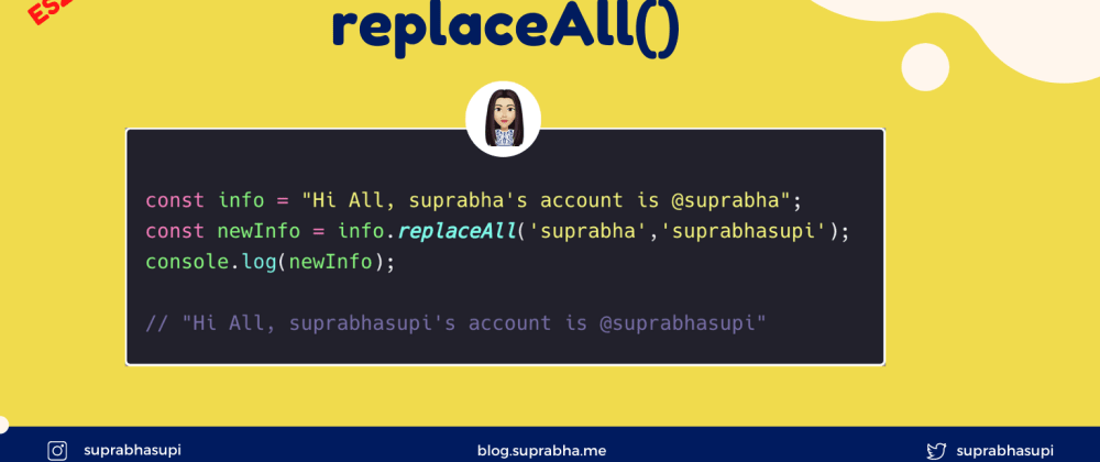 Cover image for replaceAll in JavaScript