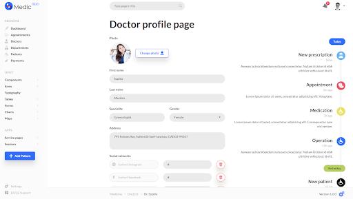 medicapp-profile-page