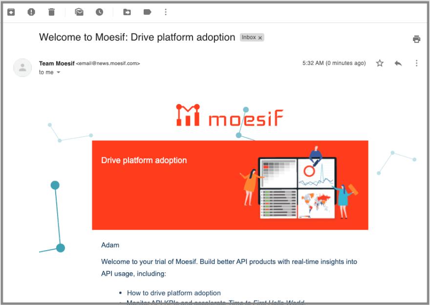 Welcome Behavioral Email Illustrating Relevancy