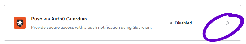 Select Auth0 Guardian