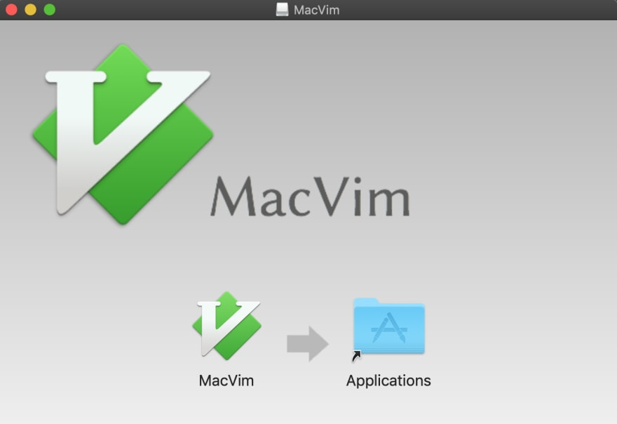 copy macvim to applications