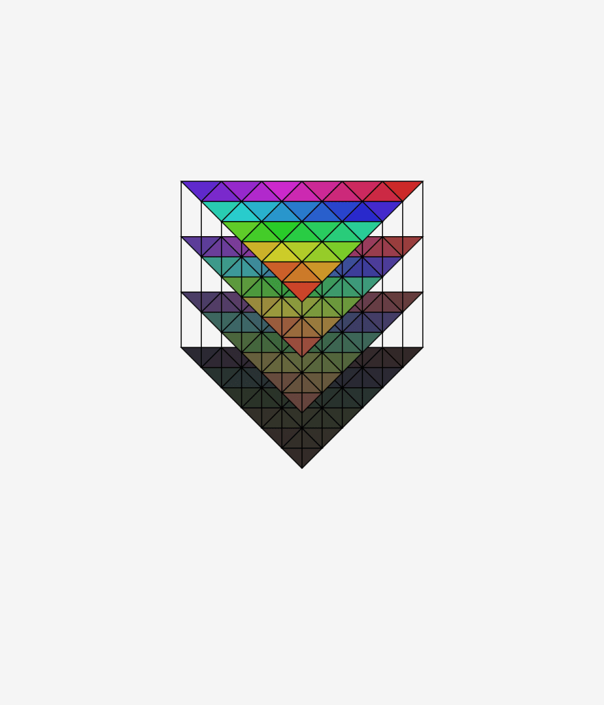 color triangle pyramid