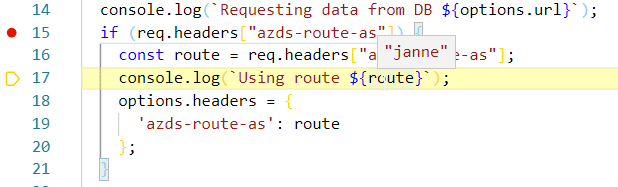 dev spaces routing http header