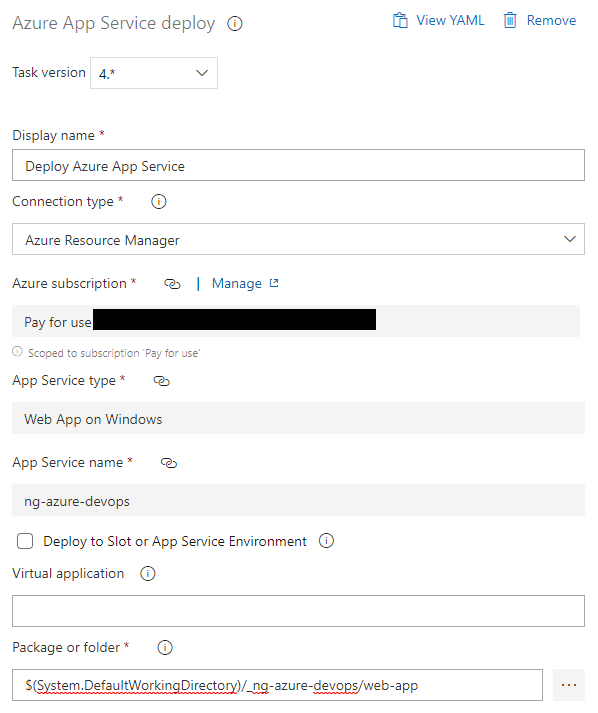 Continuously Deploying Angular to Azure App Service with