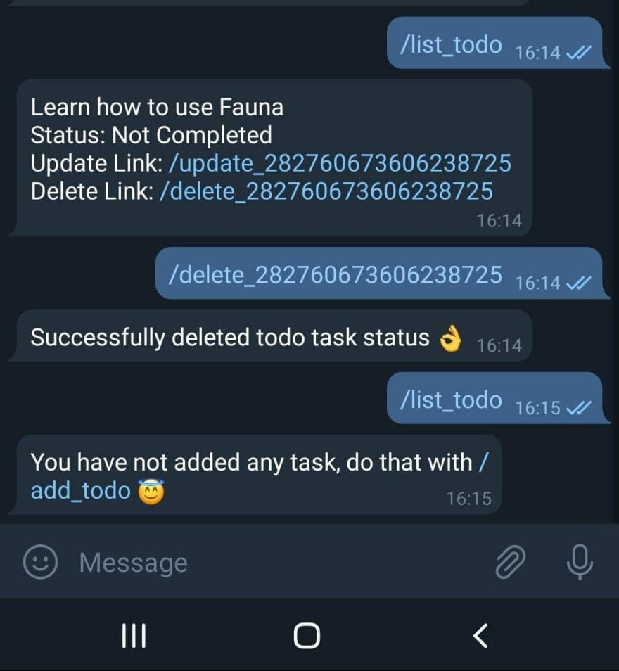 finished delete task
