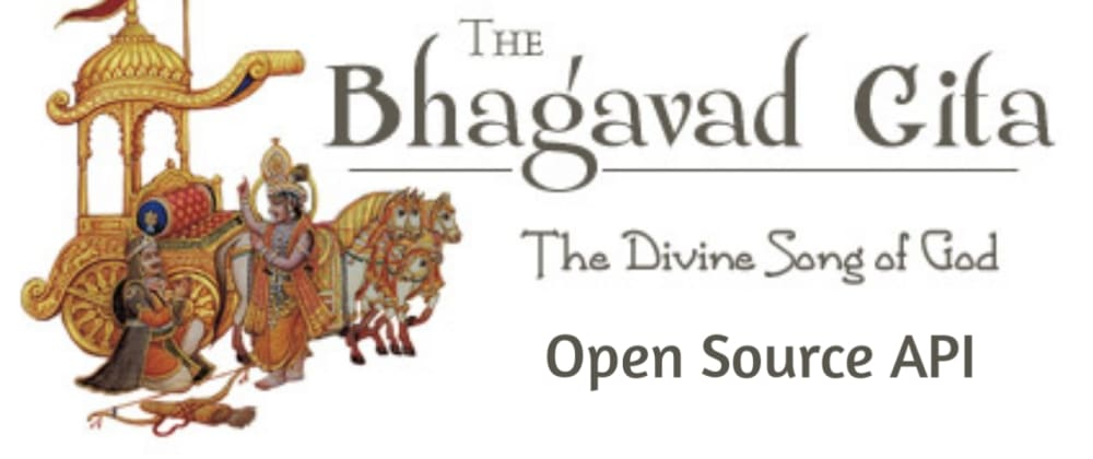 Cover image for Open Source Bhagavad Gita API
