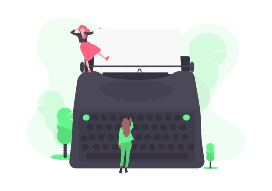 illustration of typewriter
