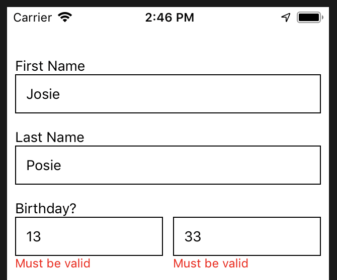 How to create custom forms with validation and scroll to