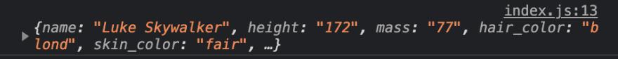 Data from API