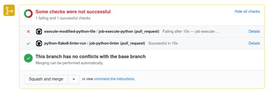 GitHub action sample report