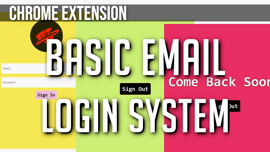Email/Password Login for Chrome Extensions