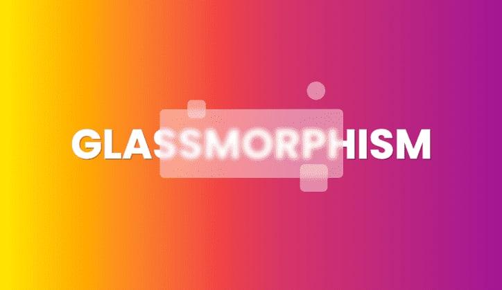 Glassmorphism Exemple