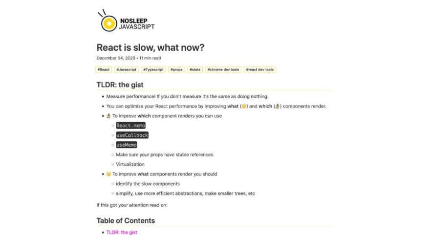 React is slow, what now?