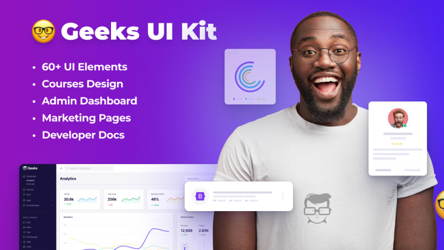 Geeks Bootstrap 5 Template and admin dashboard Template