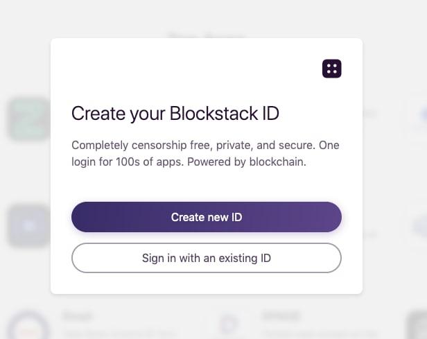 create blockstack account