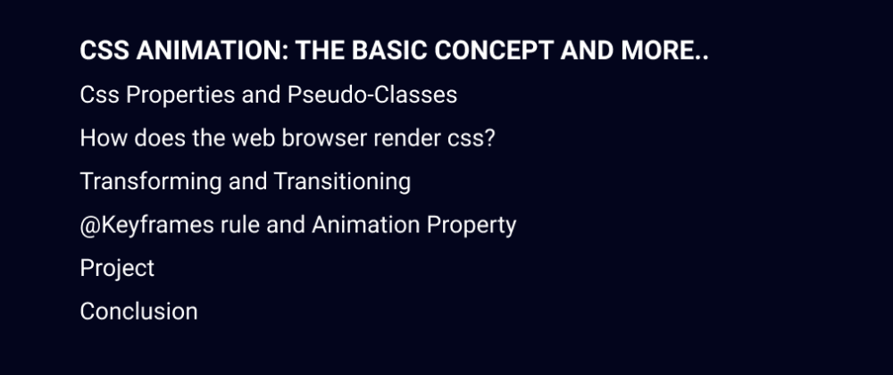 Cover image for CSS Animation: the basic concept and more..