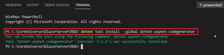 dotnet-aspnet-codegenerator
