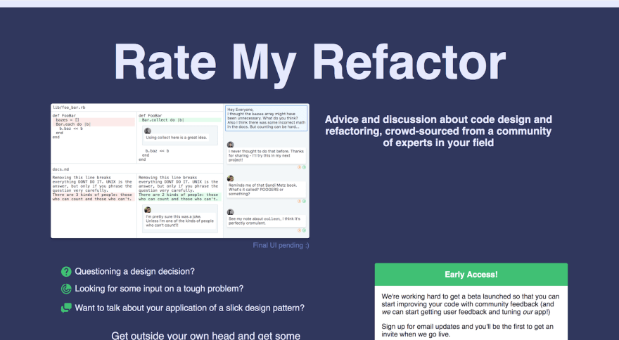 Rate my Refactor screenshot