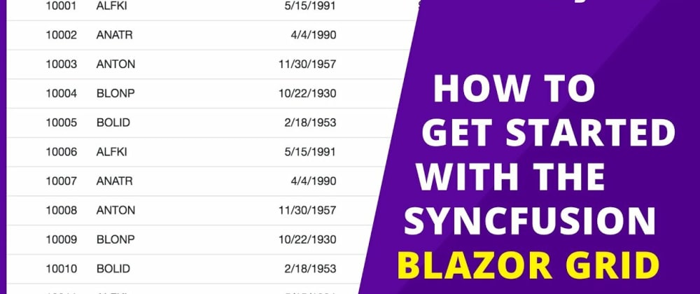 Cover image for Getting Started with the Blazor DataGrid Component