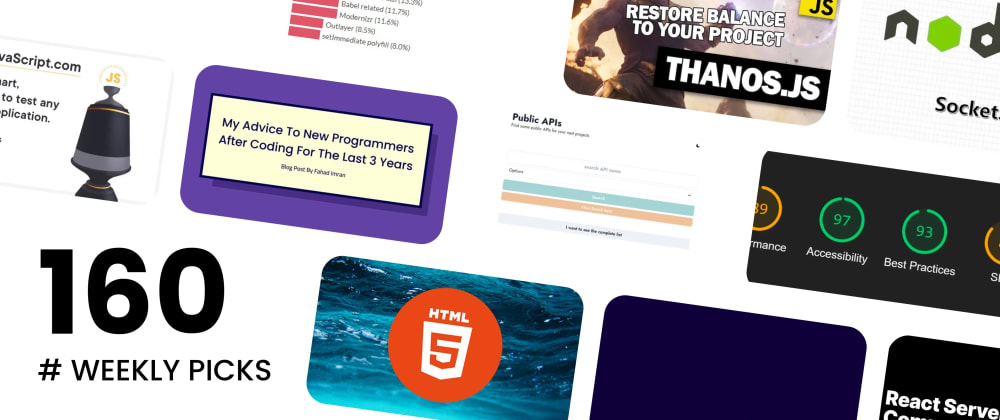 Cover image for 🔥 What's Hot in Web Development? — Weekly Picks #160
