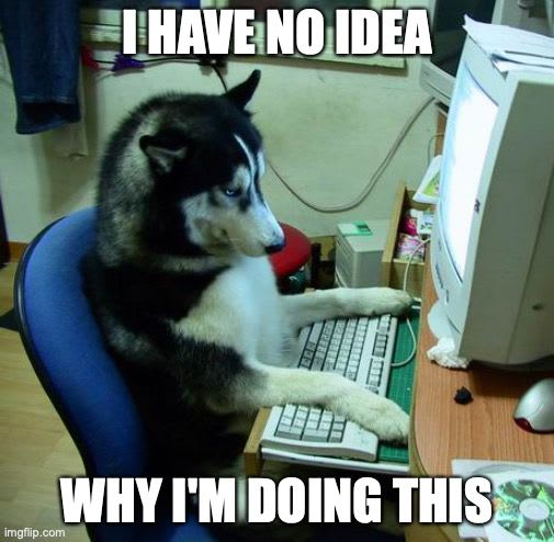 Actual footage of me coding