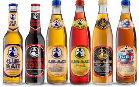 Photo of various types of Club Mate drinks