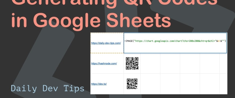 Cover image for Generating QR Codes in Google Sheets