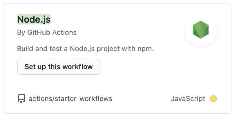 Node.js workflow