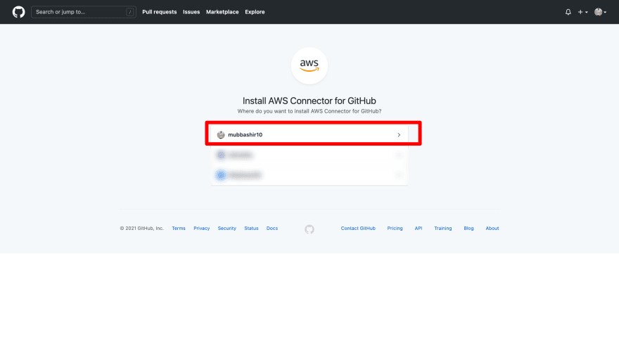 AWS App runner connects with github