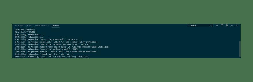 Instalação das extensões no servidor remoto
