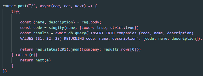 Parameterized Query Example