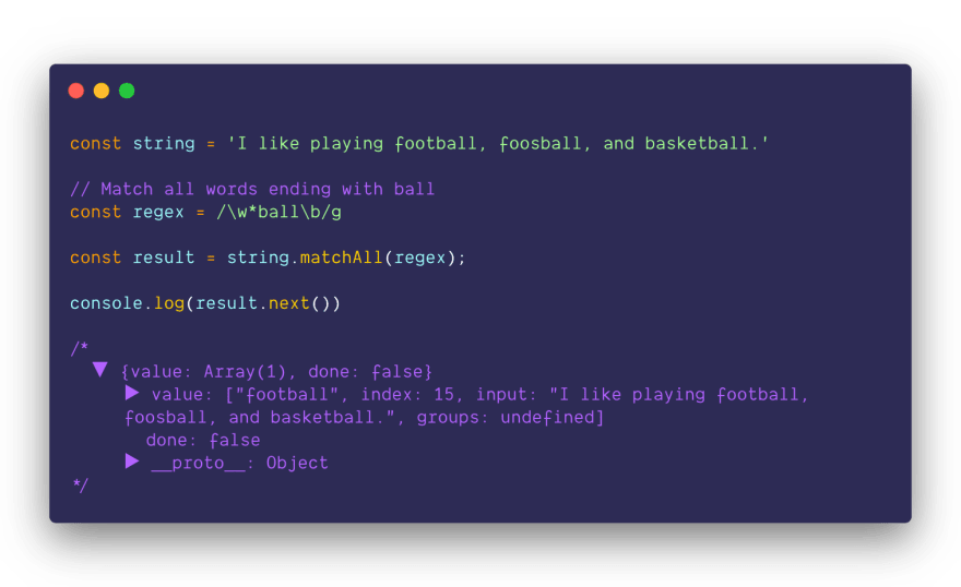 String.matchAll as iterator