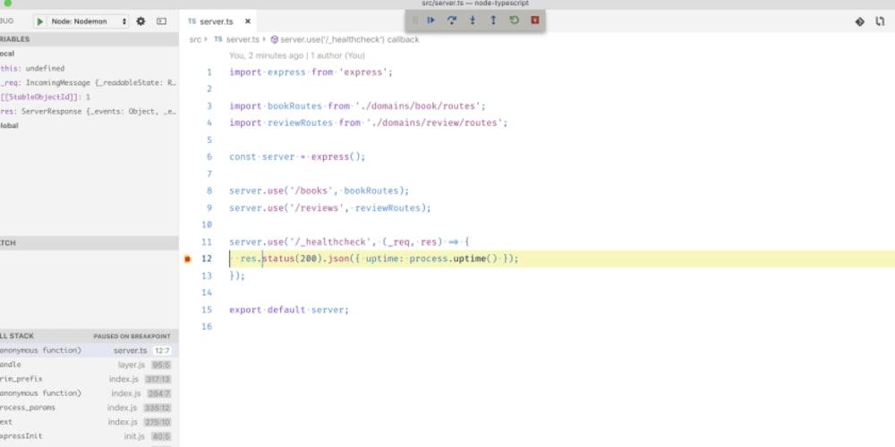 Node js with TypeScript, Debug inside VSCode and Nodemon - DEV