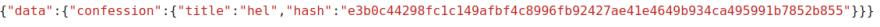 Query through the API