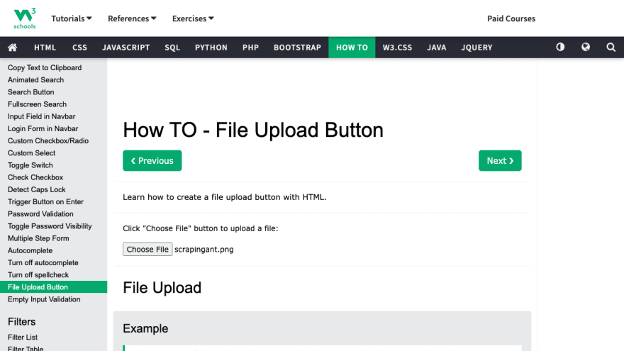 Upload file with Playwright