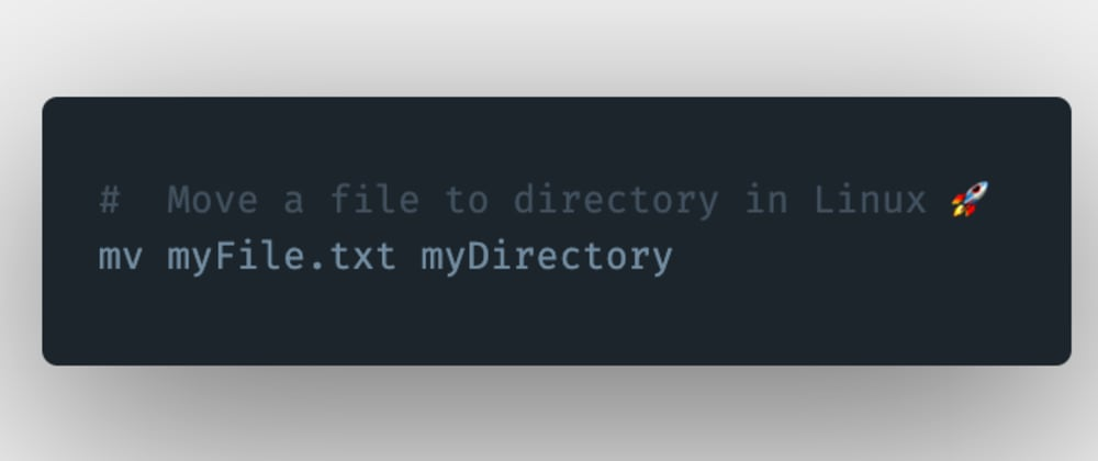 Cover image for How to move a file to another folder or directory in Linux?