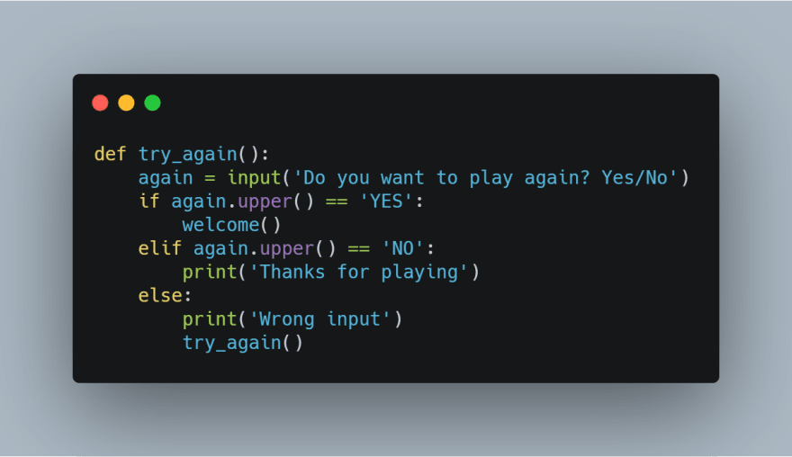 try_again function