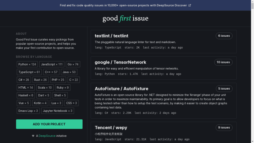 Good First Issue_ Issues for your first open-source contribution