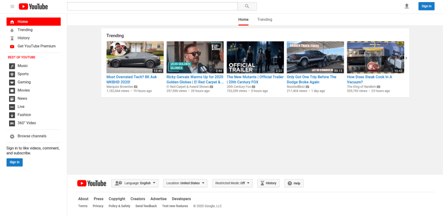 YouTube on IE 11