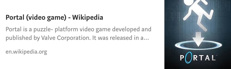 Link to Portal Video Game Wikipedia Article