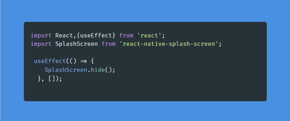 Cover image for Learn to integrate splash screen to your react native app.