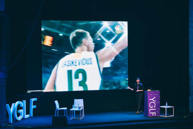 My introduction at YGLF featuring the 2004 Lithuanian men's olympic basketball team