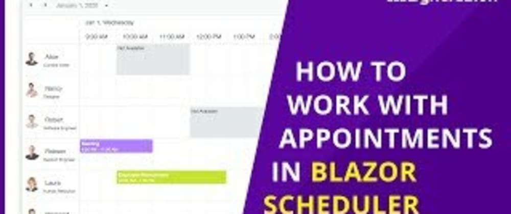 Cover image for How to Work with Appointments in Blazor Scheduler