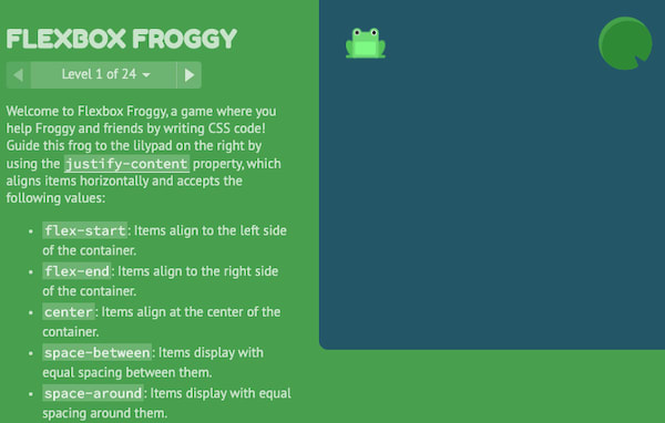 flexboxfroggy